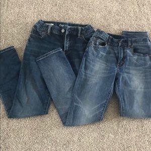 2 pair boys jeans Gap and J Crew